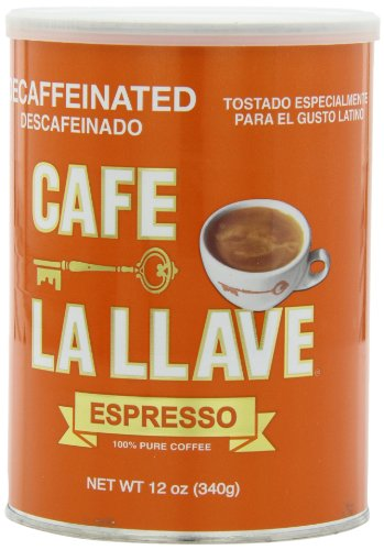 Cafe La Llave Decaffeinated Espresso, 12 Ounce
