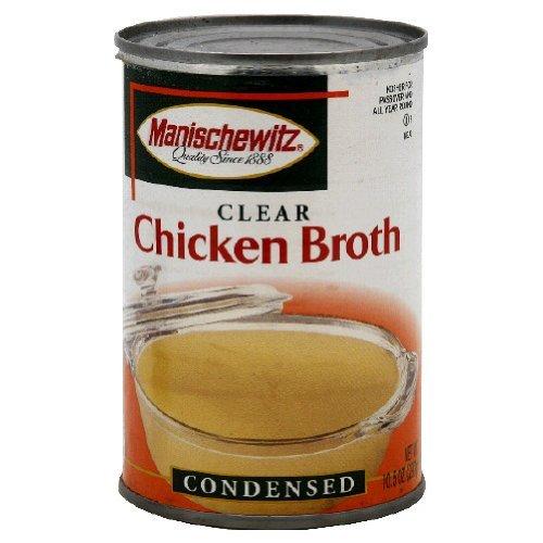 Manischewitz Chicken Broth, 10.5 Ounce Tins (Pack of 12)