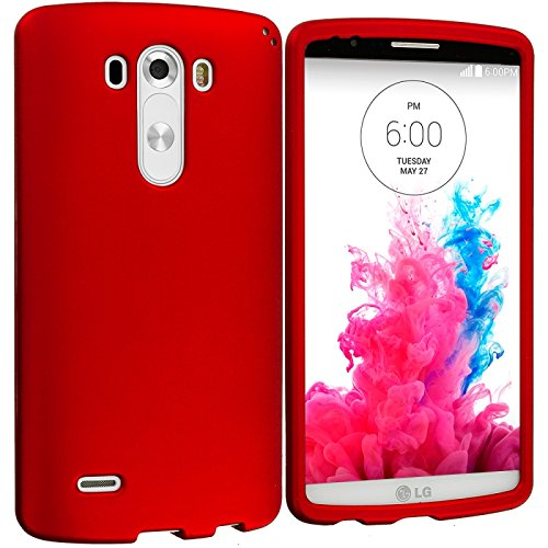 Cell Accessories For Less (TM) Orange Hard Rubberized Case Cover for LG G3 Bundle (Stylus & Micro Cleaning Cloth) - By TheTargetBuys