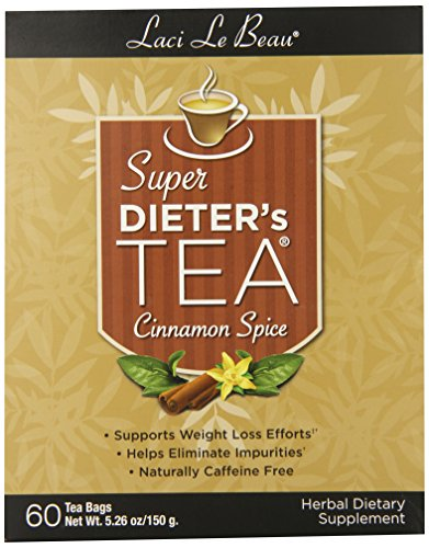 Laci Le Beau Super Dieter's Tea, Cinnamon Spice, 60-Count Box (Pack of 2)