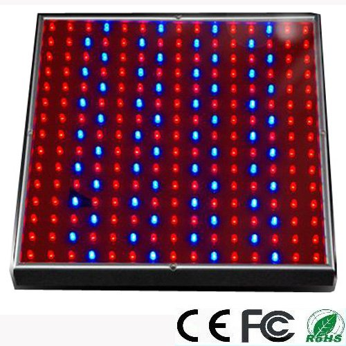 EXPOWER 225 LED Blue + Red Indoor Garden Hydroponic Plant Grow Light Panel 14 Watt 12V + Hanging Kit