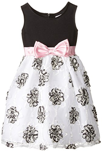 Sweet Heart Rose Little Girls' 3D Floral Soutache Occasion Dress