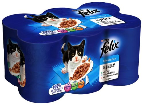 Felix Fish Selection in Jelly 6 x 400 g (Pack of 4, Total 24 Cans)