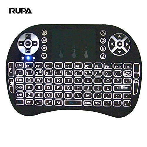 RUPA i8 Backlight Touchpad 2.4G Mini Wireless Keyboard & Mouse Combo Multi-media Keyboard Airfly Remote Control for Google Android TV/HTPC/TV Boxes/PC/Mac