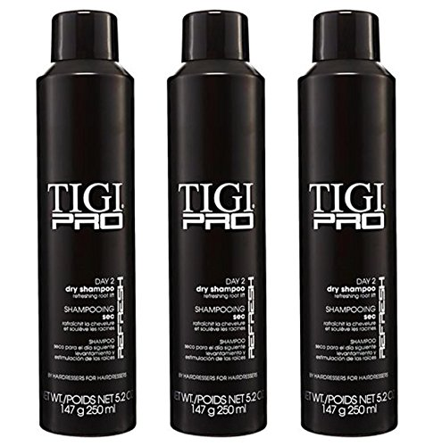TIGI PRO Day 2 Dry Shampoos Volume Texture Absorbs Oil Refreshes Hair (3 Pack)