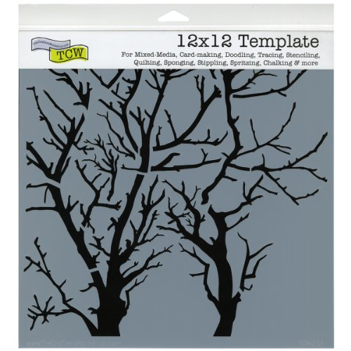 Crafters Workshop Template, 12 by 12-Inch, Branches Reversed