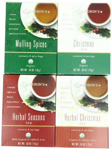 Davidson's Tea Assorted Christmas Teas, 8-Count Tea Bags (Pack of 12)