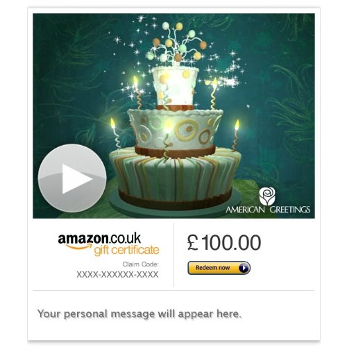 Bewitched Birthday (Animated) - E-mail Amazon.co.uk Gift Card