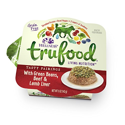 Wellness TruFood Tasty Pairings Grain Free Green Beans, Beef & Lamb Natural Raw Wet Dog Food, 5-Ounce Cup