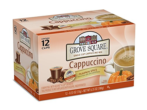 Grove Square Cappuccino, Pumpkin Spice, 12 Single Serve Cups