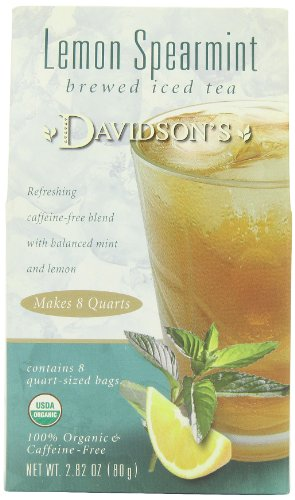 Davidson's Tea Brewed Iced Lemon Spearmint, 2.82 Ounce