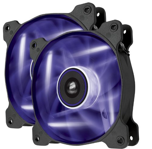Corsair Air Series AF120 LED Quiet Edition High Airflow Fan Twin Pack CO-9050016-PLED (Purple)
