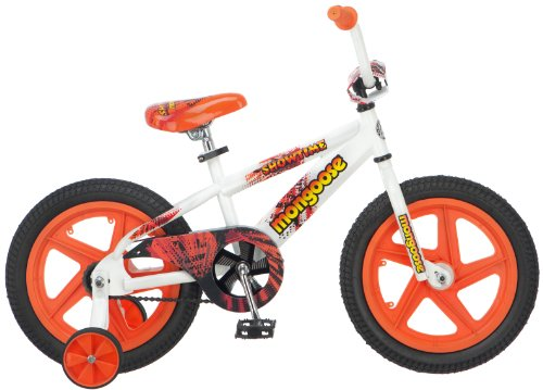 Mongoose Boy's Showtime 16-Inch Bicycle, White/Orange