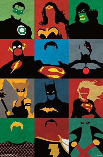 Justice League, Minimalist, 22 x 34, Wall Poster