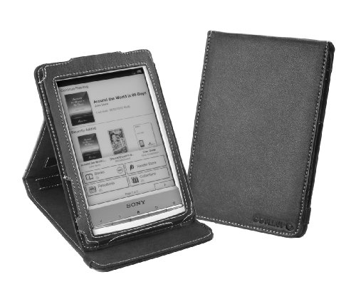 Cover-Up Sony Reader PRS-T1 / PRS-T2 Nappa Leather (Inversion Stand) Cover Case - Black