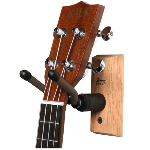 String Swing CC01UK-O Hardwood Home & Studio Ukulele/Mandolin Hanger - Oak