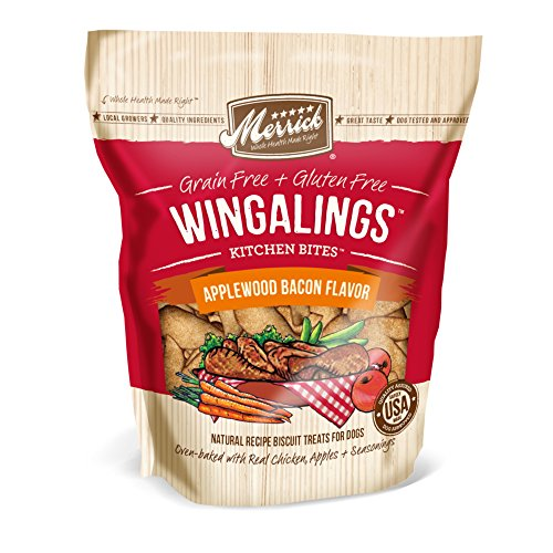 Merrick Kitchen Bites for Pets, 9-Ounce, Wingalings Applewood Bacon
