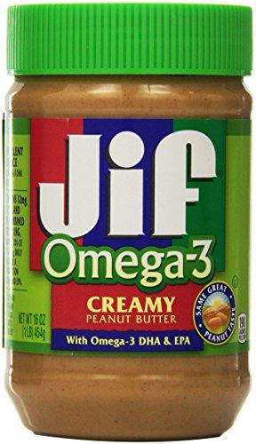 Jif Omega-3 Creamy Peanut Butter - 16 oz