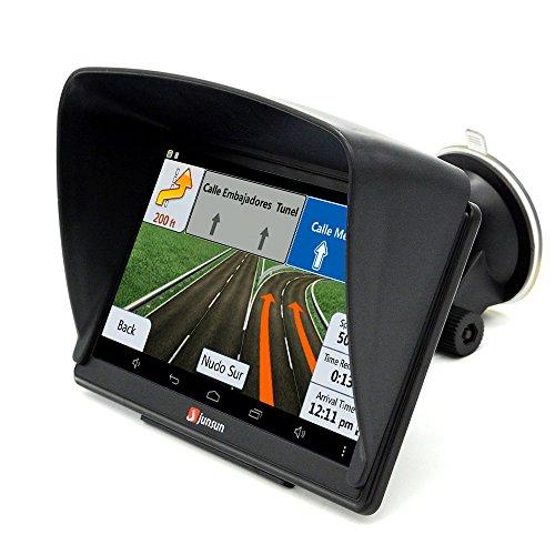 Junsun 7 inch Car GPS Navigation Bluetooth AVIN FM 8GB/256MB Capacitive Screen Vehicle GPS Sat Nav with Lifetime UK and Europe Maps Update