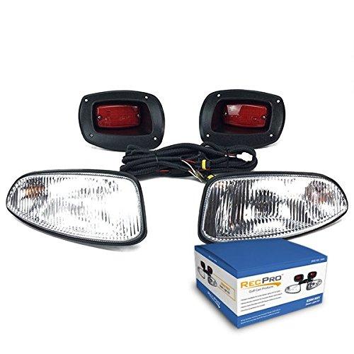 NEW RecPro EZGO RXV GOLF CART 08-UP HALOGEN LIGHT KIT w/LED TAIL LIGHT