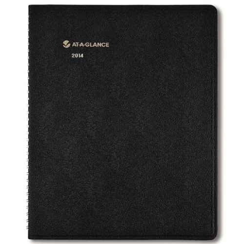 AT-A-GLANCE 2014 Monthly Planner, Black, 8-7/8 Inches x 11 Inches (70-260-05)
