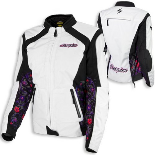 Scorpion EXO Dahlia 2 Womens' Motorcycle Jacket - White - MD