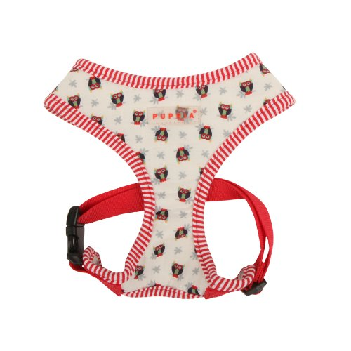 PUPPIA Authentic Owlet Pet Harness A, Large, Ivory