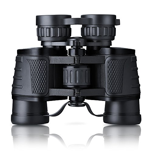 Topop 8x30 Folding Compact Binocular BAK4 Prism Zoom Telescope with Carry Case, High Power Magnification for Birdwatching, Concerts, Sport, Hiking, Camping, Sightseeing and Travel
