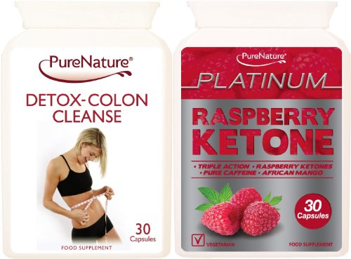 Triple Strength Raspberry Ketone Extreme Platinum Blend | High Performance Body Fat Fighter Slimming Pills providing 600mg Daily of Raspberry Ketones, 400mg Caffeine-Anhydrous & 200mg African Mango + Detox Colon Cleanse Suitable for Vegetarians + FREE 2016 Fast Start Diet Plan | FREE UK DELIVERY
