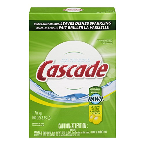 Cascade Powder Dishwasher Detergent, Lemon Scent 1.7 kg (Packaging May vary)