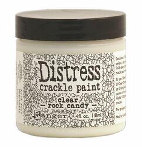 Tim Holtz Distress Crackle Paint 4 oz Jar, Clear Rock Candy