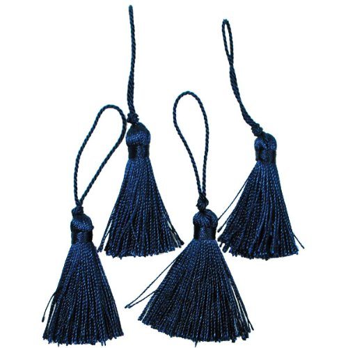 Expo Mini Fiber Tassel, Navy Blue, 4-Pack