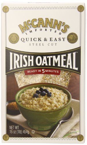 McCANN'S Steel Cut Irish Oatmeal, Quick & Easy, 16-Ounce Boxes (Pack of 6)