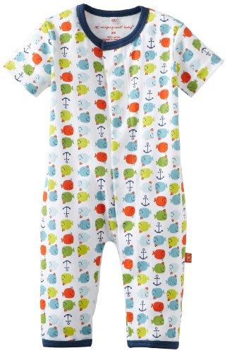 Magnificent Baby-Boys Newborn Short Sleeve Union Suit, Blue, 3 Months