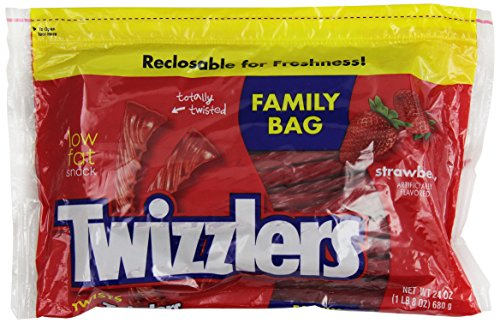 TWIZZLERS Twists (Strawberry, 24-Ounce Pouches, Pack of 6)