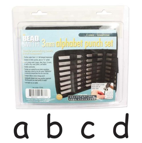 27 Piece Lowercase Comic Alphabet Letters Punch Set For Metal 3mm