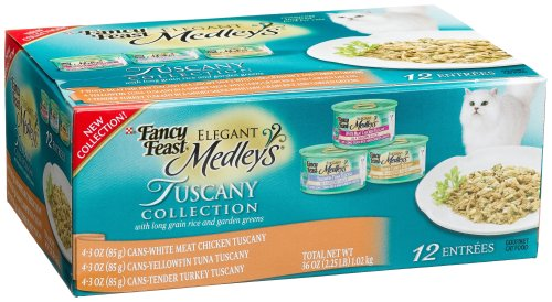 Fancy Feast Elegant Medleys for Cats, Tuscany, 3-Ounce Cans (Pack of 24)
