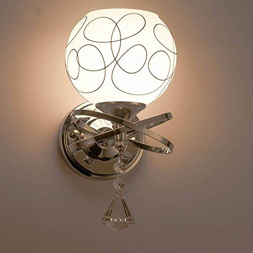 SOLMORE New Modern E27 Crystal Glass Single Head Wall Light For Living Room Bedroom Bedside Lobby