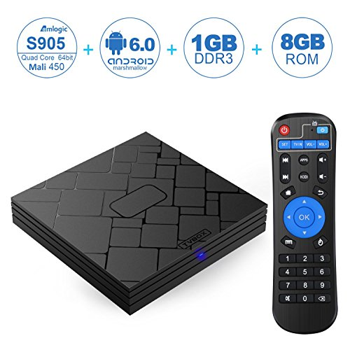 NinkBox T10 MINI Android 6.0 TV Box Amlogic S905 Quad Core 4K Output 1G/8G Flash Smart Tv Player Wifi Preinstalled with Full Loaded Kodi 16.1 Streaming Media Player