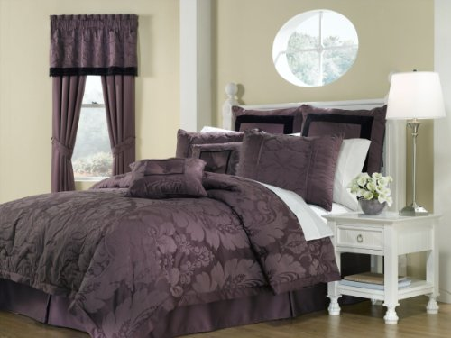 Royal Heritage Home Lorenzo Purple Tailored Valance