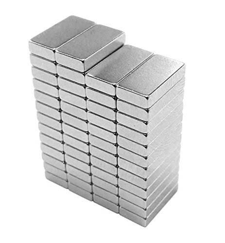 totalElement 10 x 5 x 2 mm Neodymium Rare Earth Block Magnets N48 (50 Pack)