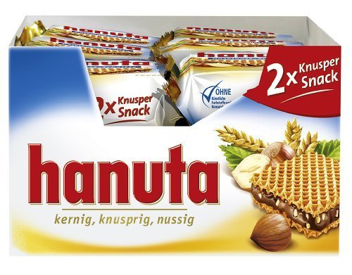 Ferrero Hanuta Wafers with Hazelnut Cream, 18x 2pcs (36pcs) by Ferrero [Foods]