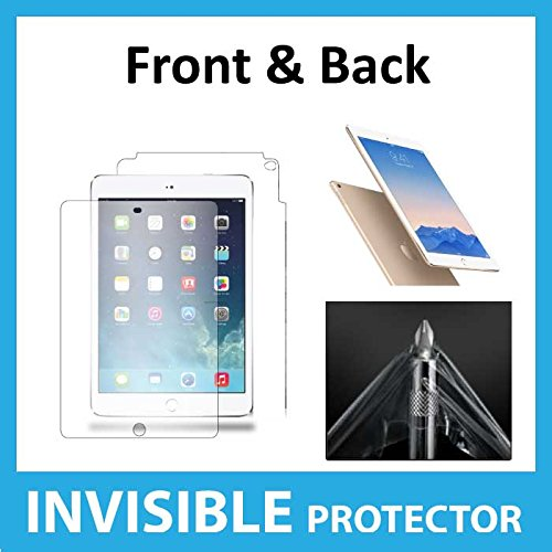 iPad Air 2 FULL Body INVISIBLE Screen Protector (Front & Back included) Military Grade Protection Exclusive to ACE CASE