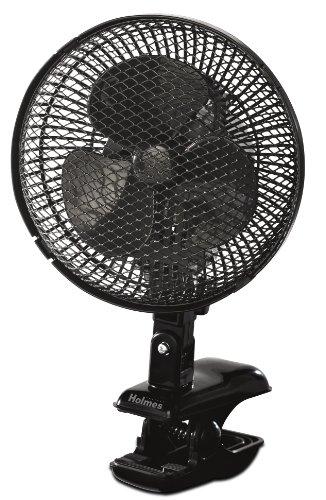 Holmes HACP10B-U Oscillating Clip Fan, Black