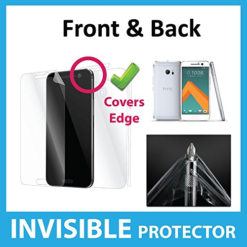 HTC 10 HTC M10 Curved Fit FULL Body Coverage INVISIBLE Screen Protector Film (Front & Back included) Military Grade Protection Exclusive to ACE CASE
