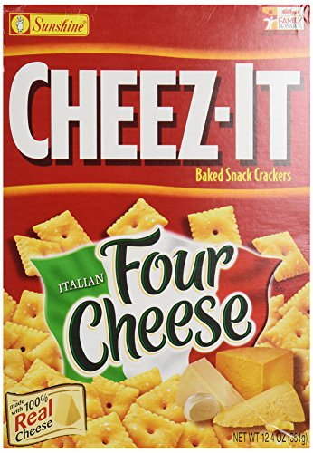 Sunshine, Cheez-it Baked Snack Crackers, Four Cheese, 12.4 oz