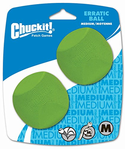 Chuckit  Erratic Ball Dog Toy, 6.5 cm, Medium, 2-Piece
