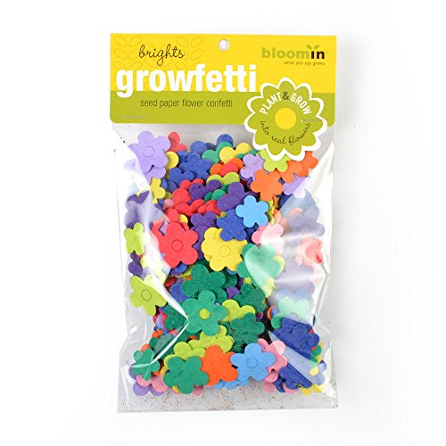 Bloomin Seed Paper Shape Packs - Growfetti - Flower Shapes {Brights}