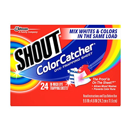 Shout Color Catcher Dye Trapping Sheet, 24 Count  (Pack of 12)