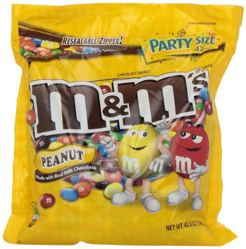 M&M's Peanut Candy, 42-Ounce Packages (Pack of 2)